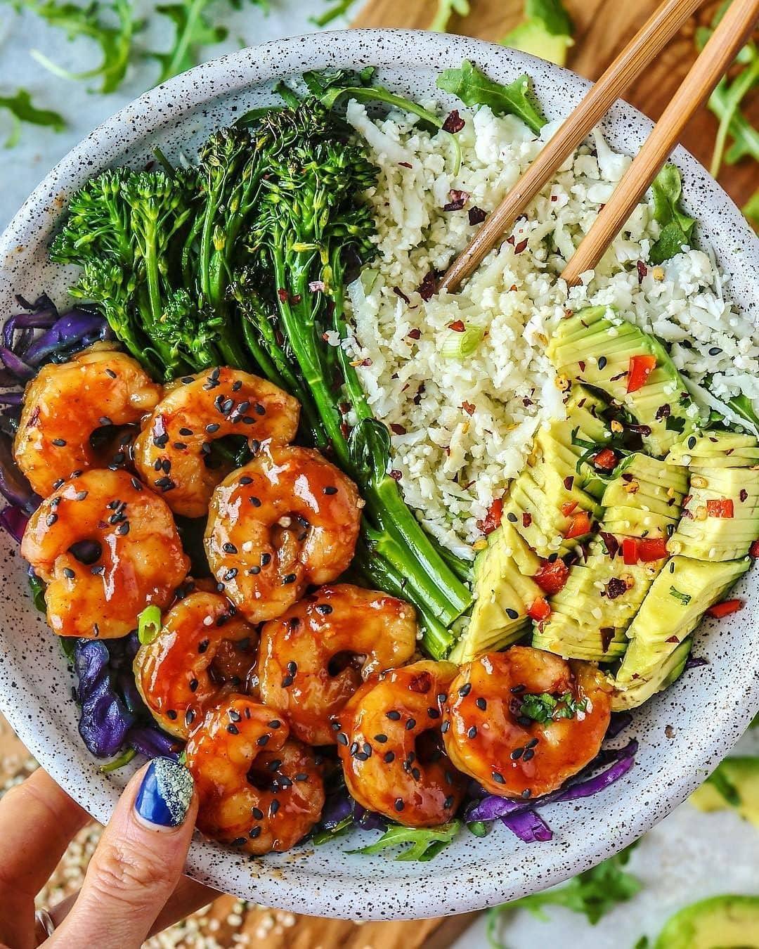 Mango BBQ Shrimp Bowl