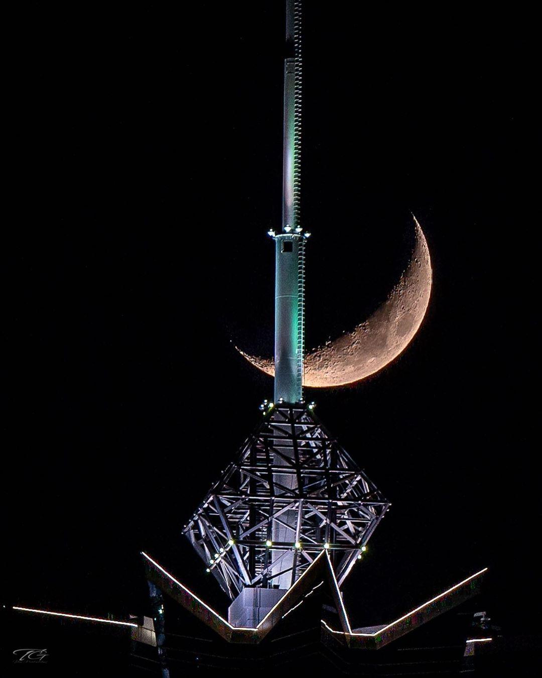 Moon in Dubai